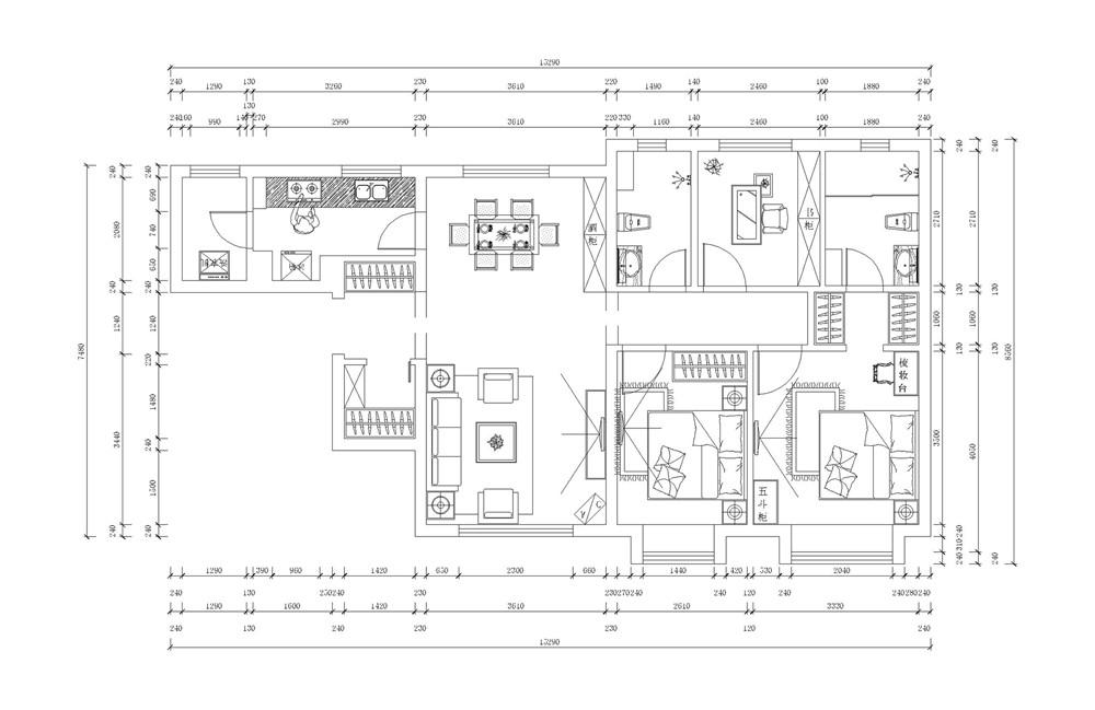 简约 现代 三居 白领 收纳 80后 户型图图片来自阳光放扉er在力天-津南新城120㎡-现代简约的分享