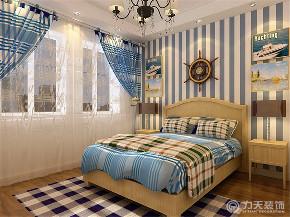 地中海 二居 白领 小资 80后 卧室图片来自阳光放扉er在力天装饰-海河华鼎100㎡-地中海的分享