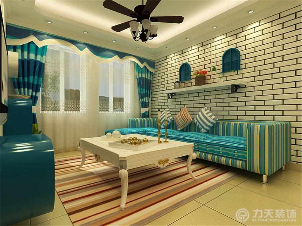 地中海 二居 白领 小资 80后 客厅图片来自阳光放扉er在力天装饰-海河华鼎100㎡-地中海的分享