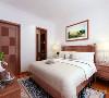 卧室并没有做太大的处理,白色乳胶漆加上深色色调的原木色地板,打造一种温馨舒适感。该户型的门其实是一个亮点,厨房门卧室还有卫生间的门不是一样的,是用了玻璃、皮纹和木质相组合而成的。很居特色。