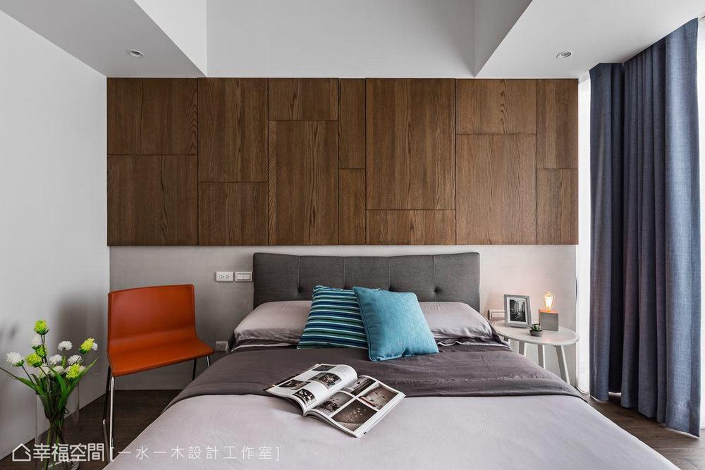 三居 小户型 工业风 卧室图片来自幸福空间在微工业生活感 63平三代温馨宅的分享