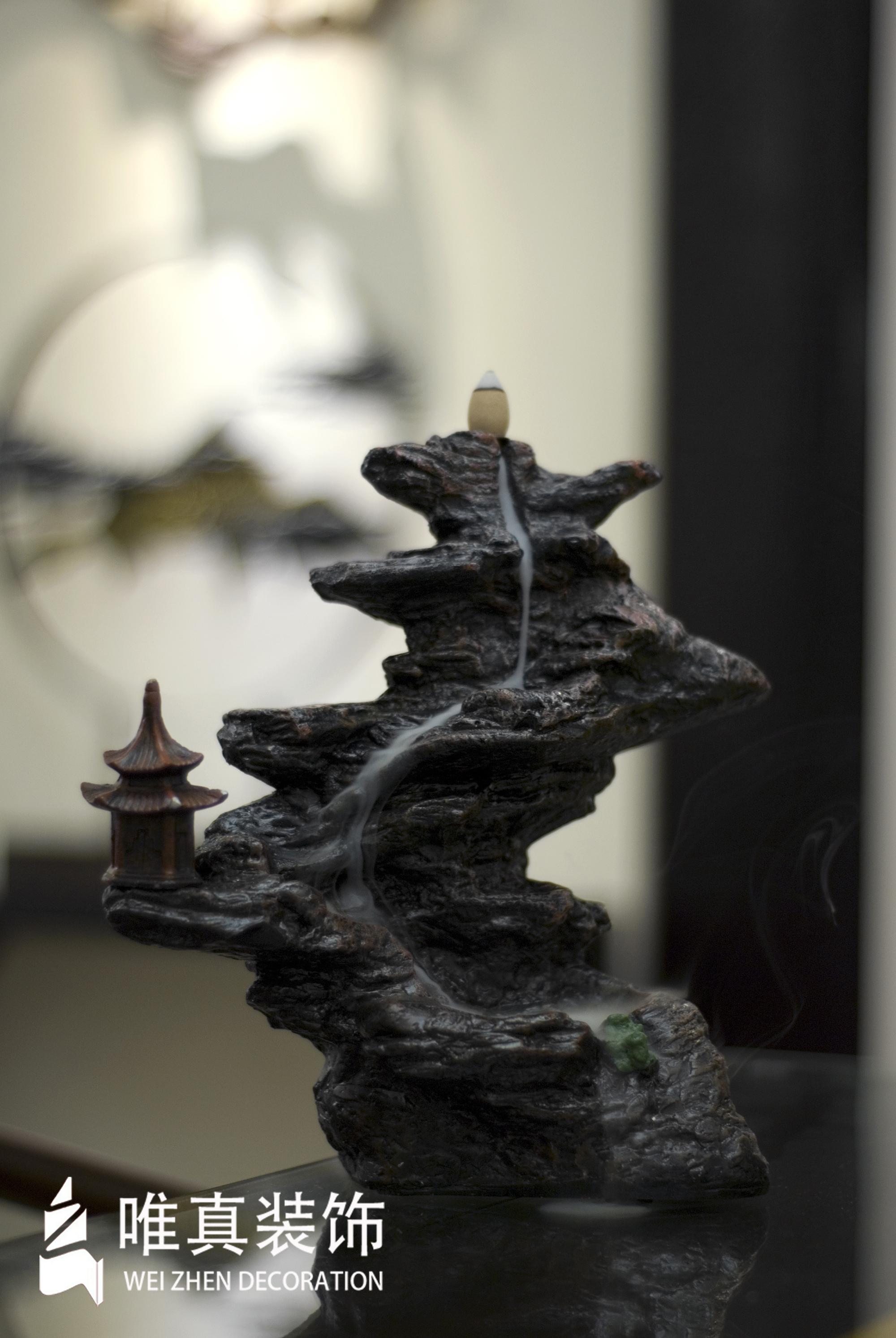 四居 中式 书房图片来自唯真装饰在大华南湖公园世家新中式风的分享