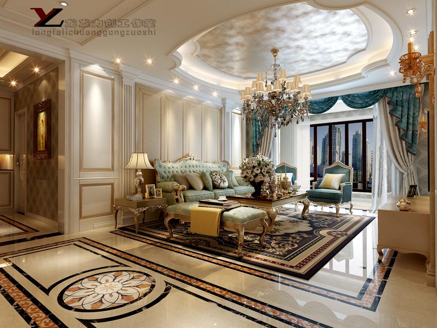 图片来自西安龙发室内设计在曲池东岸·欧式风格·复式设计的分享