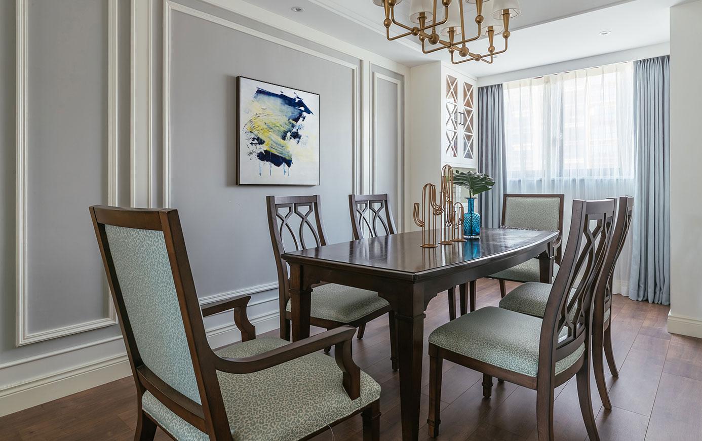 简约 美式 餐厅图片来自别墅设计师杨洋在宁静美式风格设计-简约之美的分享
