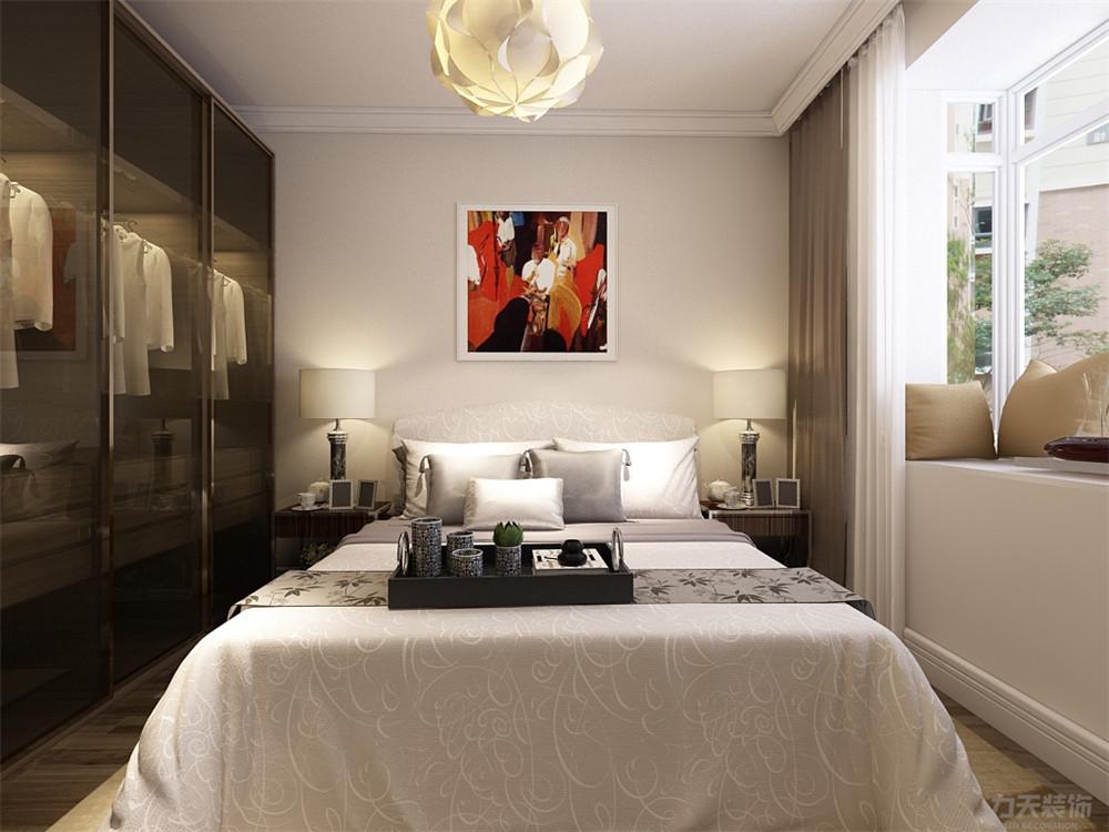 简约 二居 收纳 小资 卧室图片来自阳光力天装饰在力天装饰-君悦花苑-88㎡的分享
