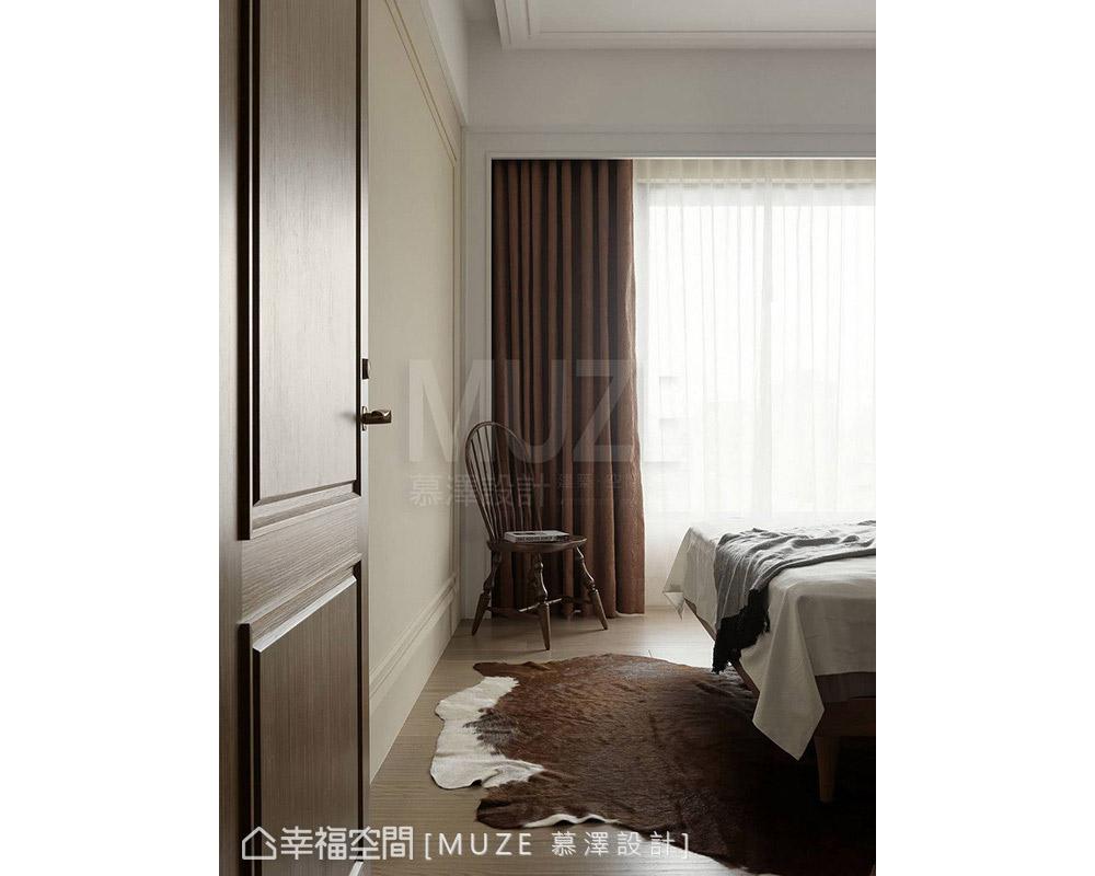 三居 现代 卧室图片来自幸福空间在敦品醇厚 日139平不落英式古典风的分享