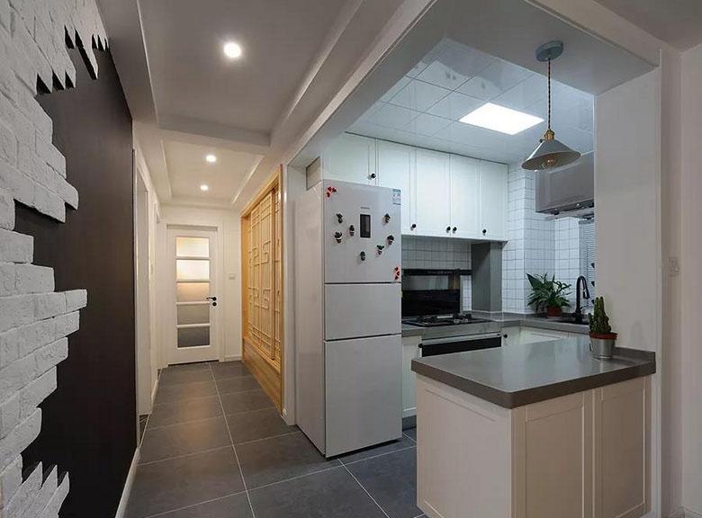 厨房图片来自家装大管家在质朴清雅 97平日式原木系空间的分享