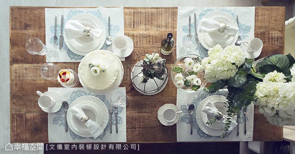 三居 田园 餐厅图片来自幸福空间在轻柔特调 92平法式花园飨宴的分享