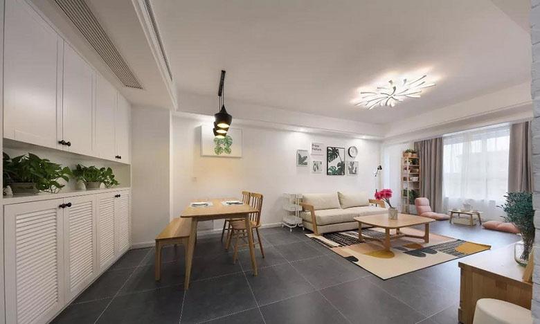 客厅图片来自家装大管家在质朴清雅 97平日式原木系空间的分享