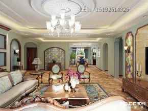 别墅 地中海 金秋 泰和郡 客厅图片来自快乐彩在金秋泰和郡338平别墅装修的分享