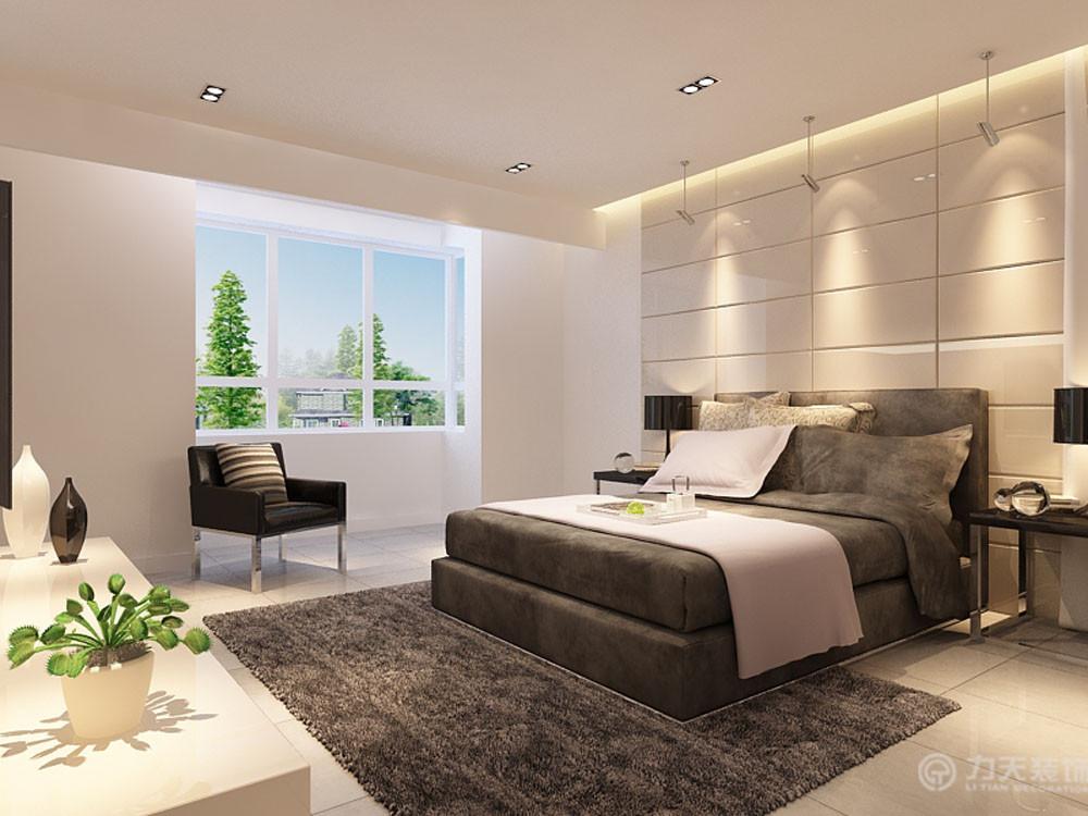 简约 现代 四室 80后 白领 收纳 卧室图片来自阳光力天装饰在力天装饰-尚清湾185㎡现代简约的分享