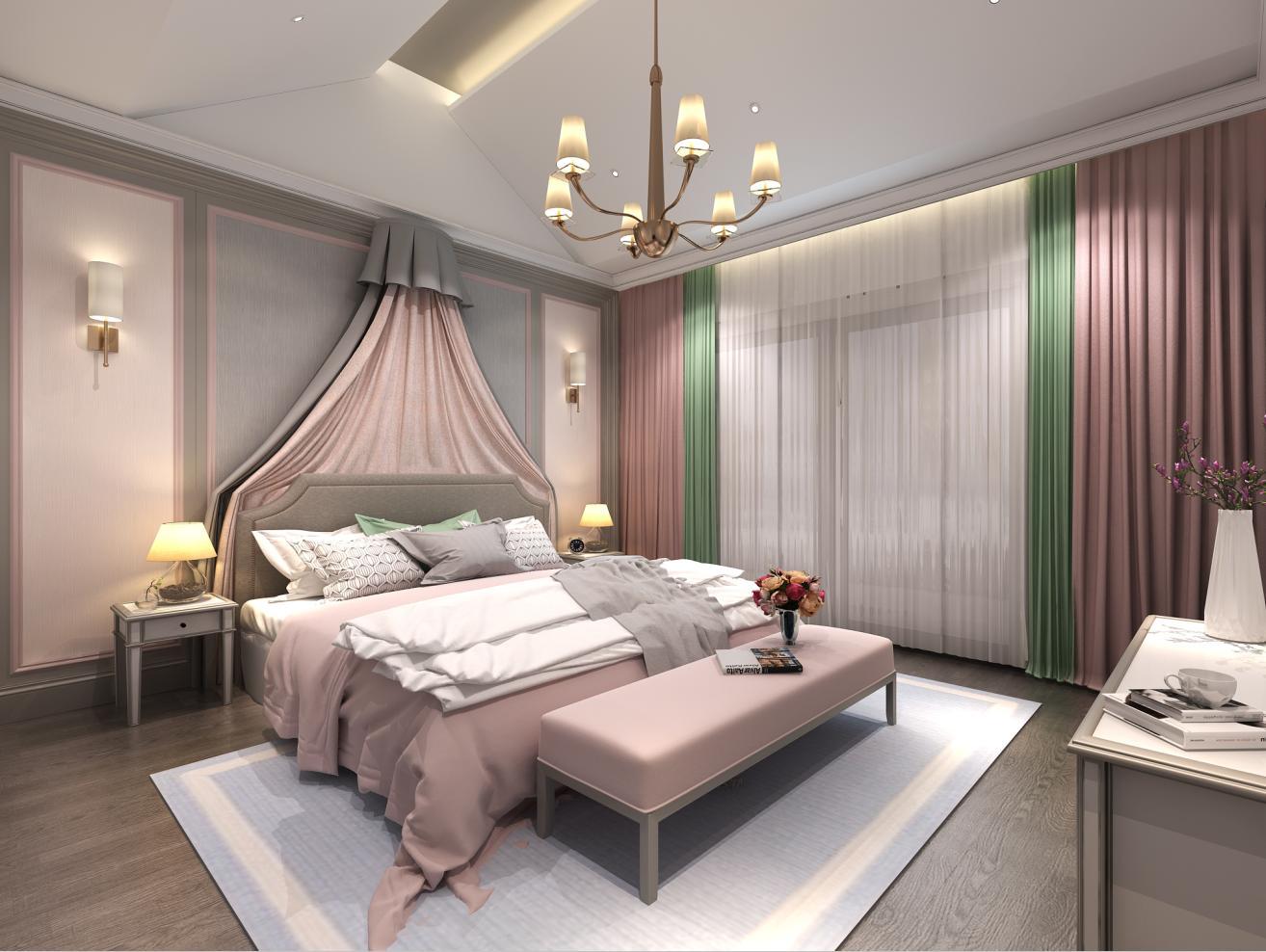 爱丽舍花园 联排别墅 简欧风格 腾龙设计 卧室图片来自腾龙设计在沈韬作品 爱丽舍花园联排别墅的分享
