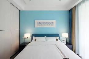 简约 地中海 卧室图片来自家装e站乐山站在都市忙碌生活 133㎡现代简约风的分享