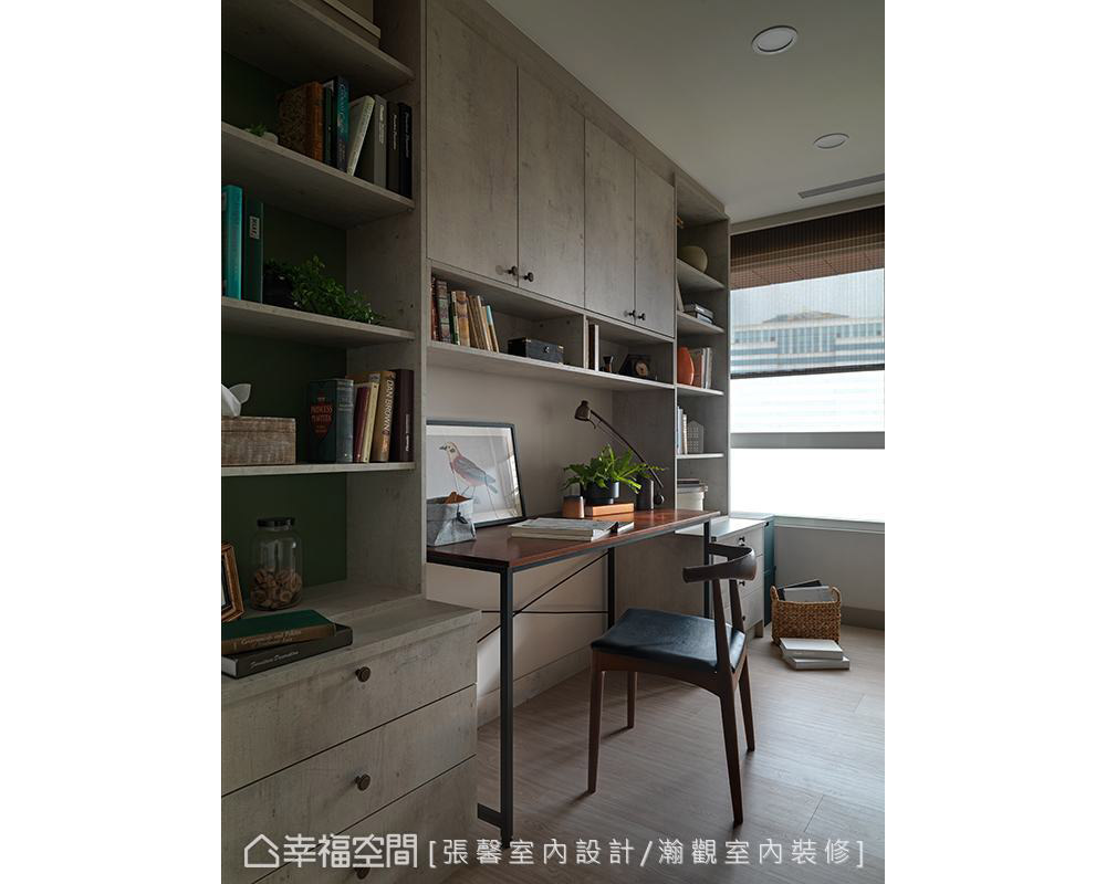 二居 美式 书房图片来自幸福空间在纯真而典雅 112平日光美式居宅的分享