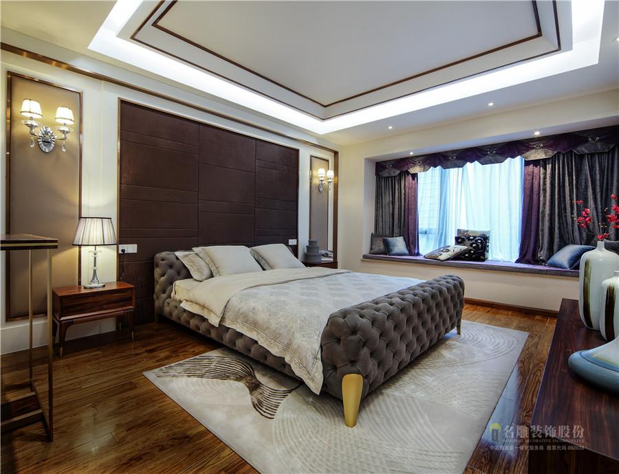 新古典 现代 四居室 奢华 高贵 卧室图片来自广州名雕装饰在中海千灯湖一号实景:简约而高贵的分享