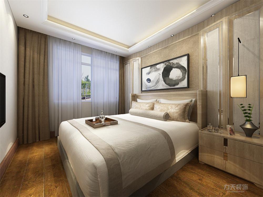 新中式 中式 二居 白领 小资 卧室图片来自阳光放扉er在力天装饰-北岸中心-93㎡-新中式的分享
