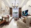 客厅的设计比较简单,沙发背景墙放啦两幅装饰画,使空间更为大气,吊顶的设计做了回字形吊顶石膏板并藏有灯带,沙发的选择为布艺的,茶几选择为方形。突显出整体的设计高端大气,餐厅的设计也很复杂