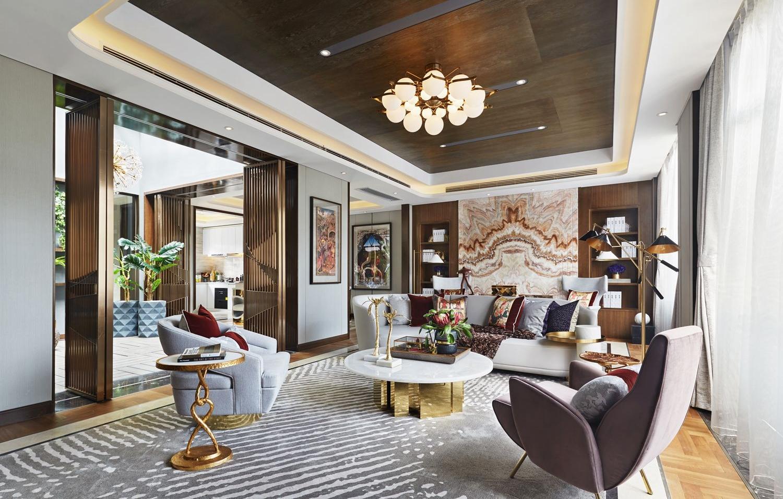 新中式 别墅 客厅图片来自别墅设计师杨洋在唯美生活 现代中式之风的分享