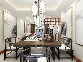 新中式 中式 二居 白领 小资 餐厅图片来自阳光放扉er在力天装饰-北岸中心-93㎡-新中式的分享