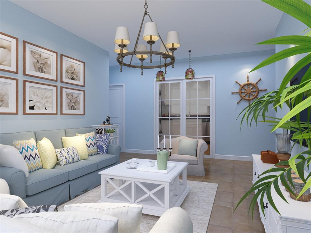 地中海 三居 收纳 小资 客厅图片来自阳光力天装饰在力天装饰-双青新家园-80㎡的分享
