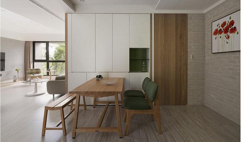 餐厅图片来自家装大管家在庭院深深 109平现代简约舒适3居的分享