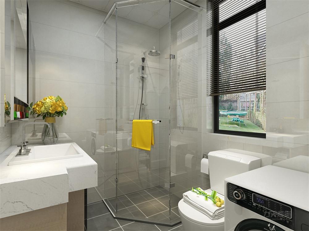 简约 现代 三居 收纳 小资 卫生间图片来自阳光放扉er在力天装饰-远洋香奈-110㎡-现代的分享