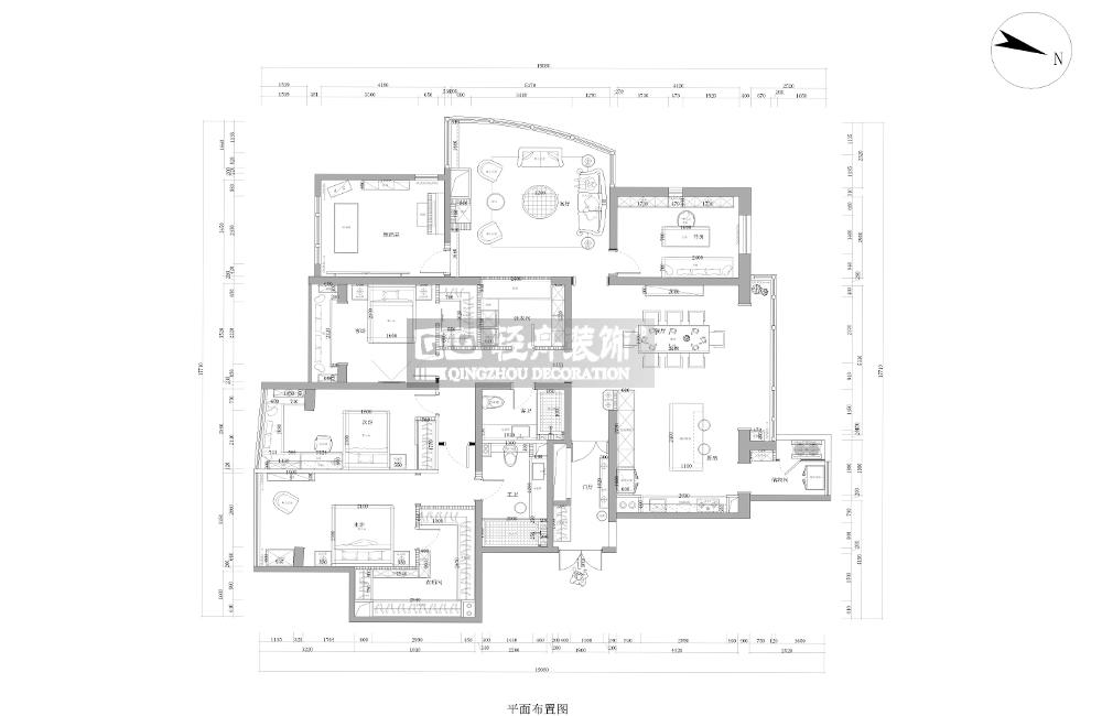 简约法式 别墅装修 轻舟装饰 老房重装 二手房装修 新房装修 户型图图片来自蔷薇朵朵-粒儿在简法的阳光上东的分享