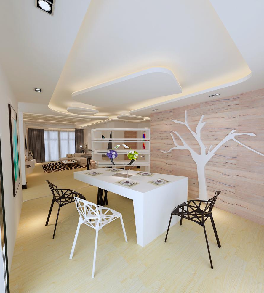 餐厅图片来自我是小样在秦岭北麓三室122平现代风格的分享
