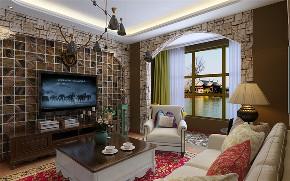 地中海 二居 白领 收纳 旧房改造 客厅图片来自阳光力天装饰在力天装饰时光里93㎡-地中海风格的分享
