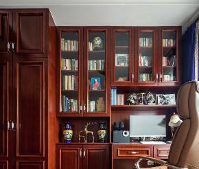欧式 混搭 三居 白领 收纳 80后 小资 书房图片来自鸿扬家装武汉分公司在广电兰亭的分享
