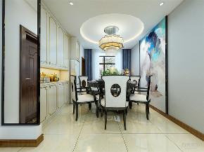 中式 三居 白领 80后 餐厅图片来自阳光力天装饰在力天装饰-朝阳花园158㎡新中式的分享