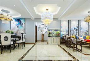 中式 三居 白领 80后 玄关图片来自阳光力天装饰在力天装饰-朝阳花园158㎡新中式的分享