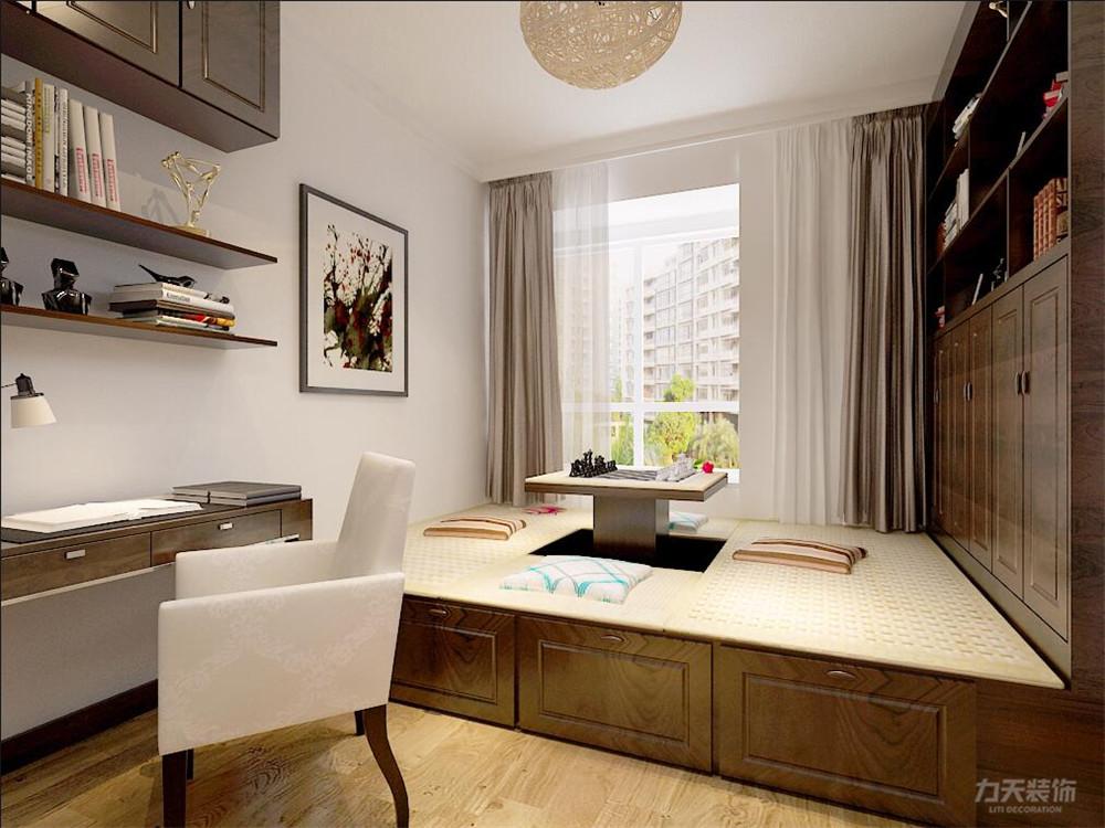 中式 二居 白领 收纳 小资 卧室图片来自阳光力天装饰在力天装饰-远洋风景80㎡新中式的分享