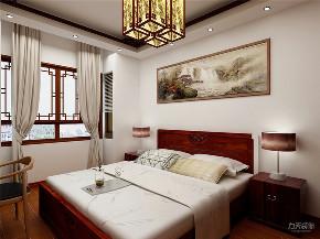 中式 二居 白领 收纳 80后 小资 卧室图片来自阳光力天装饰在力天装饰-江南苑75㎡-中式的分享