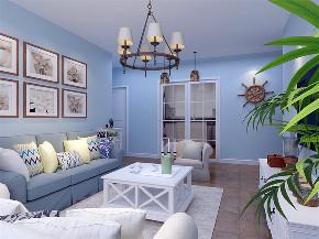 地中海 三居 白领 80后 小资 客厅图片来自阳光放扉er在力天装饰-双青新家园80㎡地中海的分享