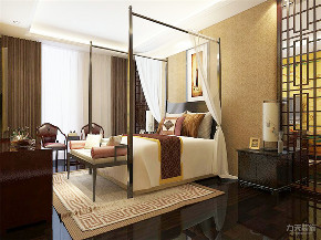 中式 三居 白领 收纳 小资 卧室图片来自阳光放扉er在力天装饰-万隆花园118㎡中式风格的分享