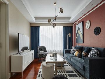 简单优雅 100平现代美式混搭3居