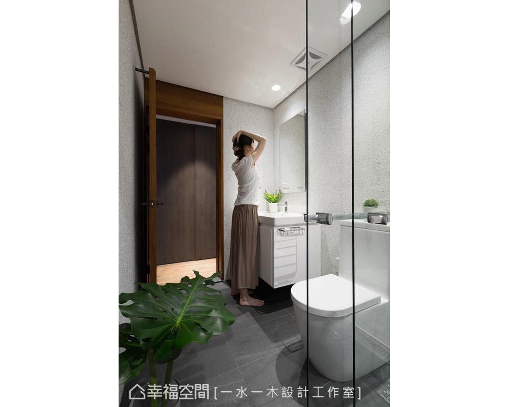 禅风 三居 卫生间图片来自幸福空间在沉稳洗炼 132平现代简约禅风雅居的分享