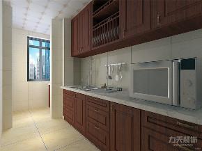 中式 新中式 二居 收纳 小资 厨房图片来自阳光力天装饰在力天装饰-烁维广场-86㎡-中式的分享