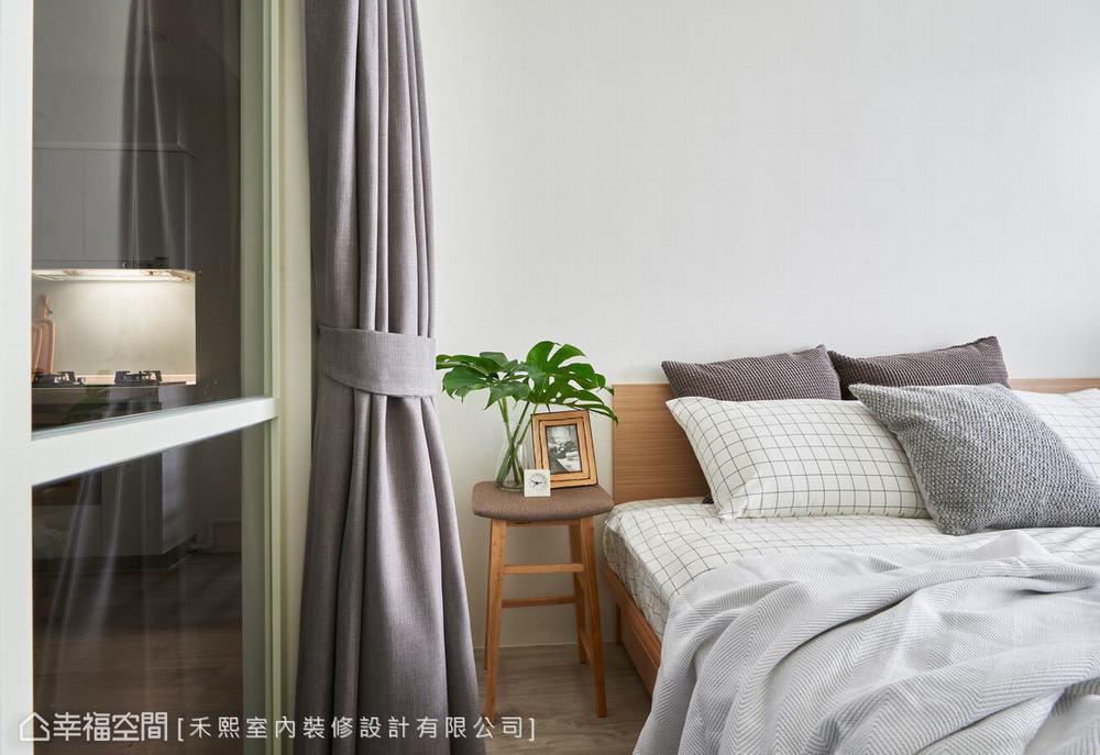 二居 小户型 北欧 卧室图片来自幸福空间在跳色小清新 46平简约北欧宅的分享