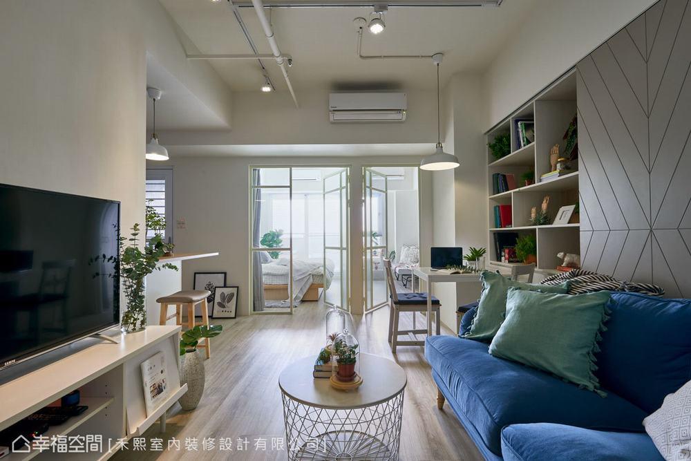 二居 小户型 北欧 客厅图片来自幸福空间在跳色小清新 46平简约北欧宅的分享