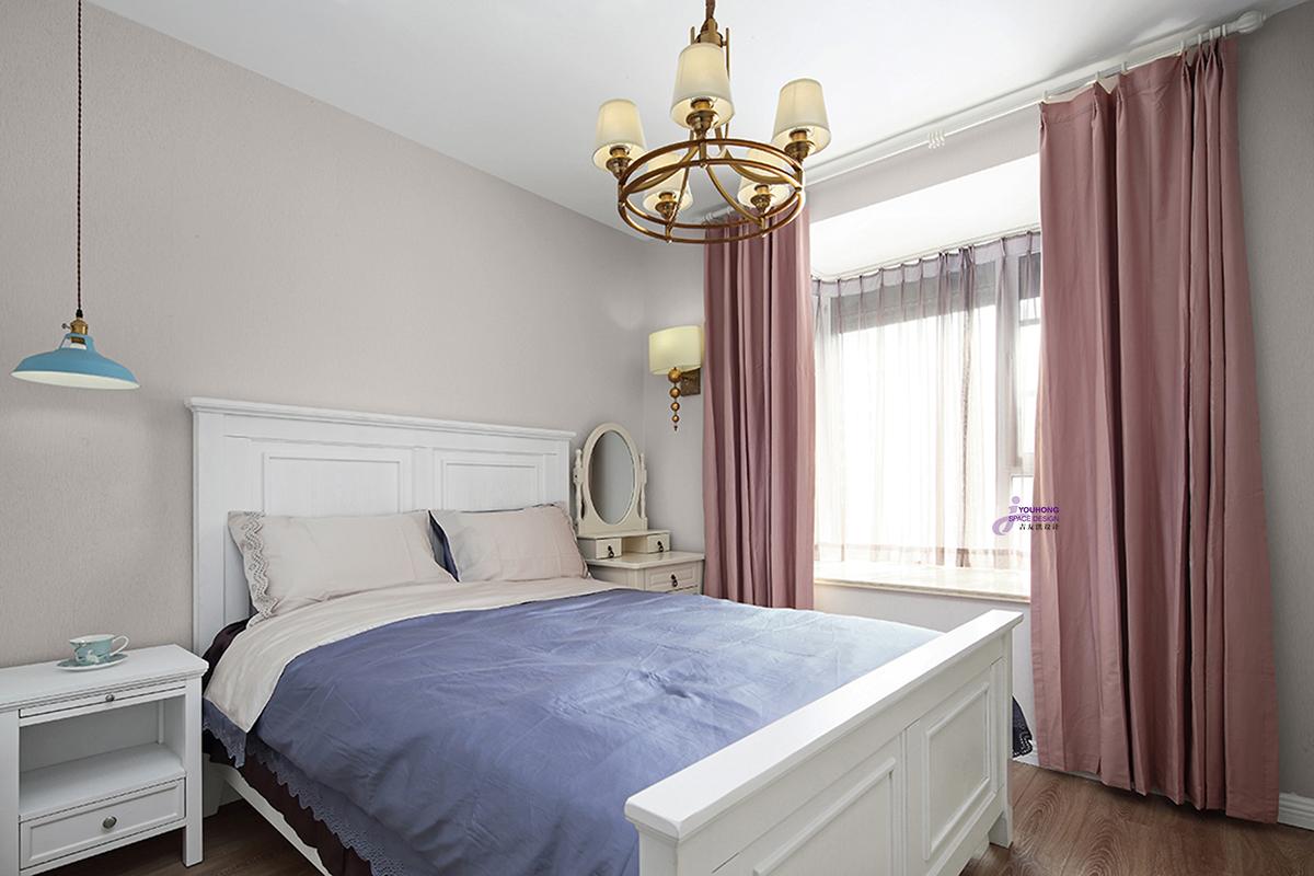 田园 美式 二居 小资 卧室图片来自无锡吉友洪设计工作室在美式   笙夏的分享