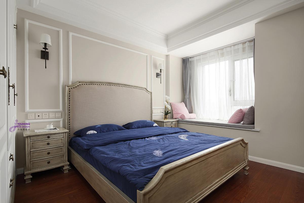 美式 三居 80后 卧室图片来自无锡吉友洪设计工作室在美式 | 云渡的分享