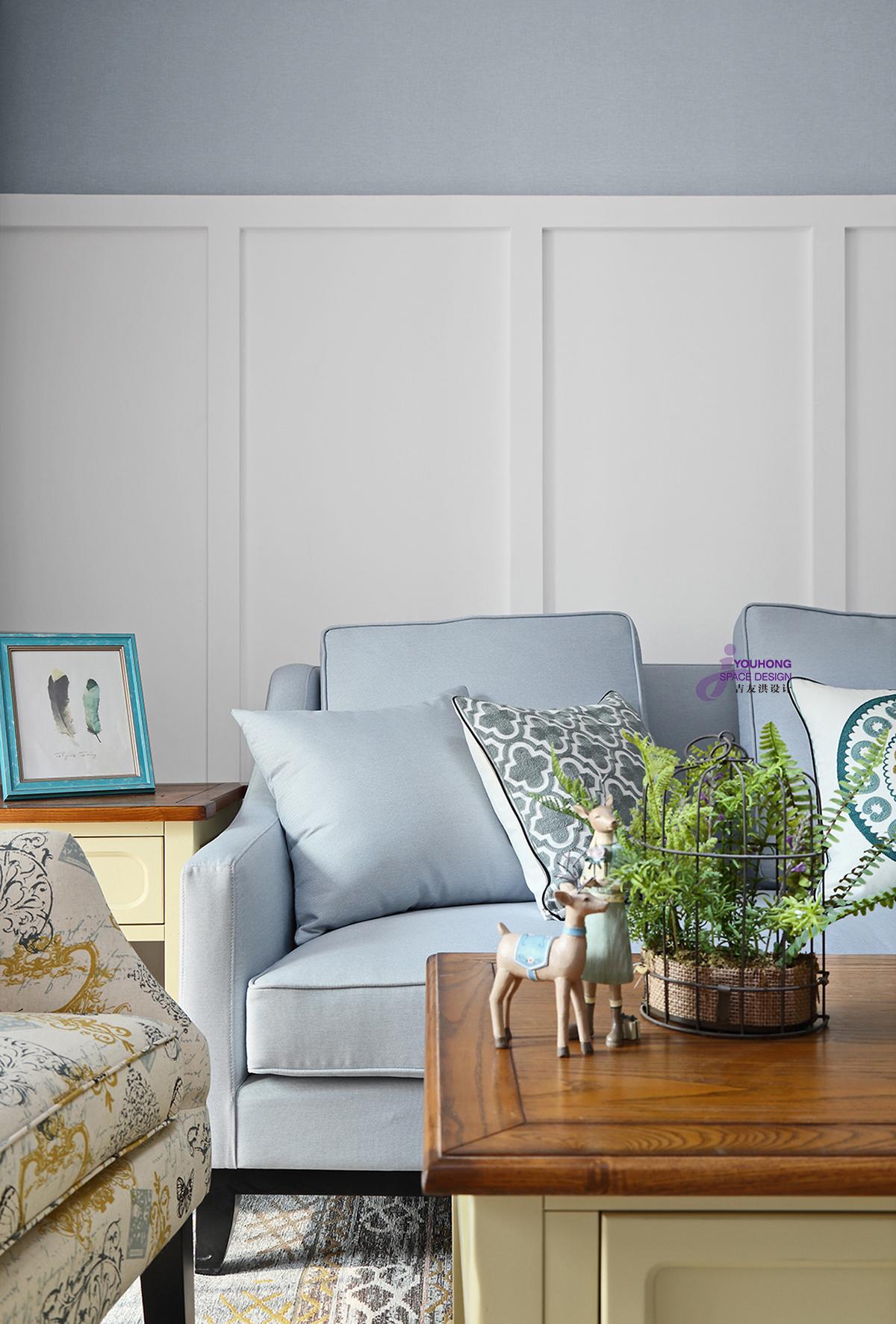 田园 美式 二居 小资 客厅图片来自无锡吉友洪设计工作室在美式   笙夏的分享