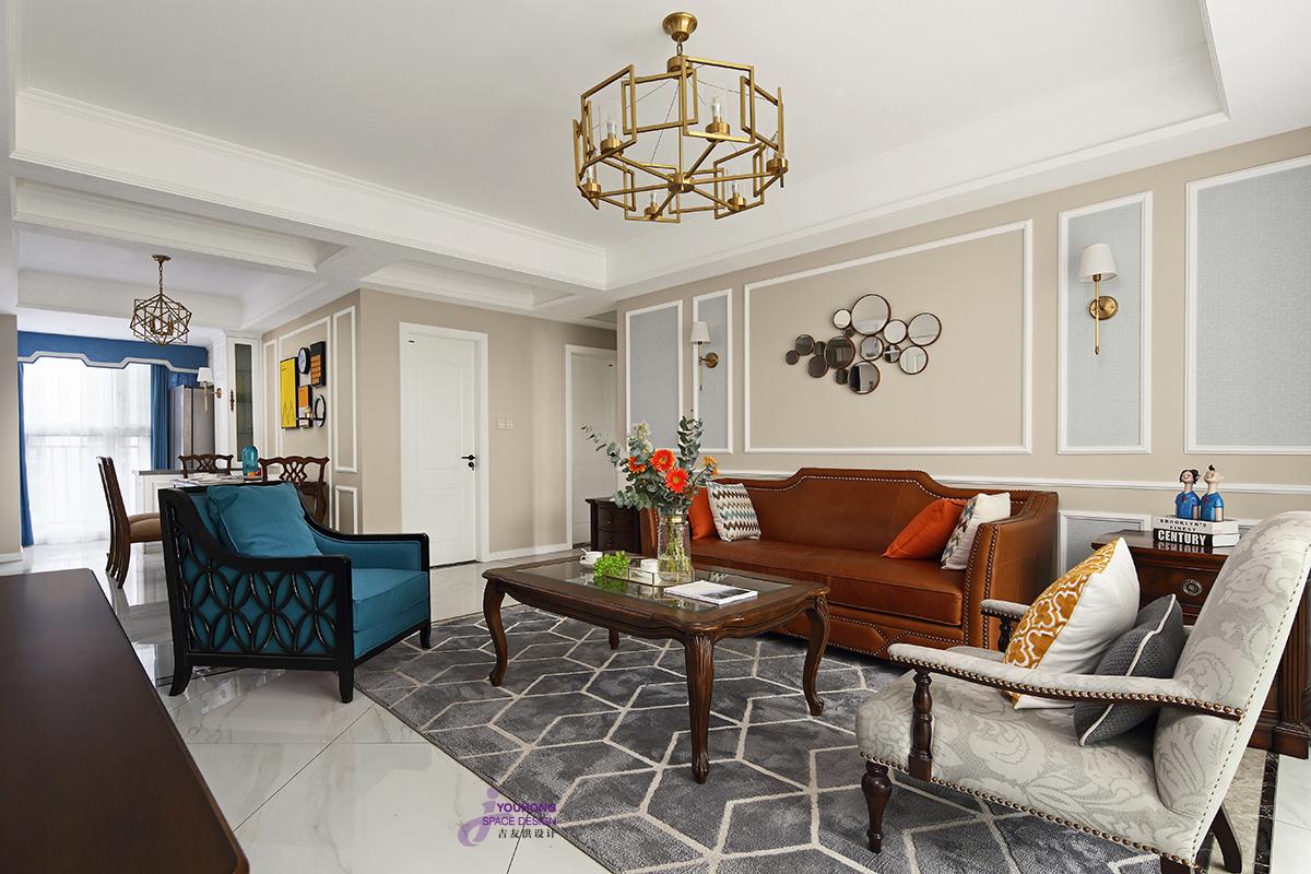 美式 三居 80后 客厅图片来自无锡吉友洪设计工作室在美式 | 云渡的分享