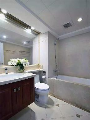 美式 三居 小资 复式 大户型 跃层 80后 卫生间图片来自高度国际姚吉智在西山艺境145㎡简约美式清新自然的分享