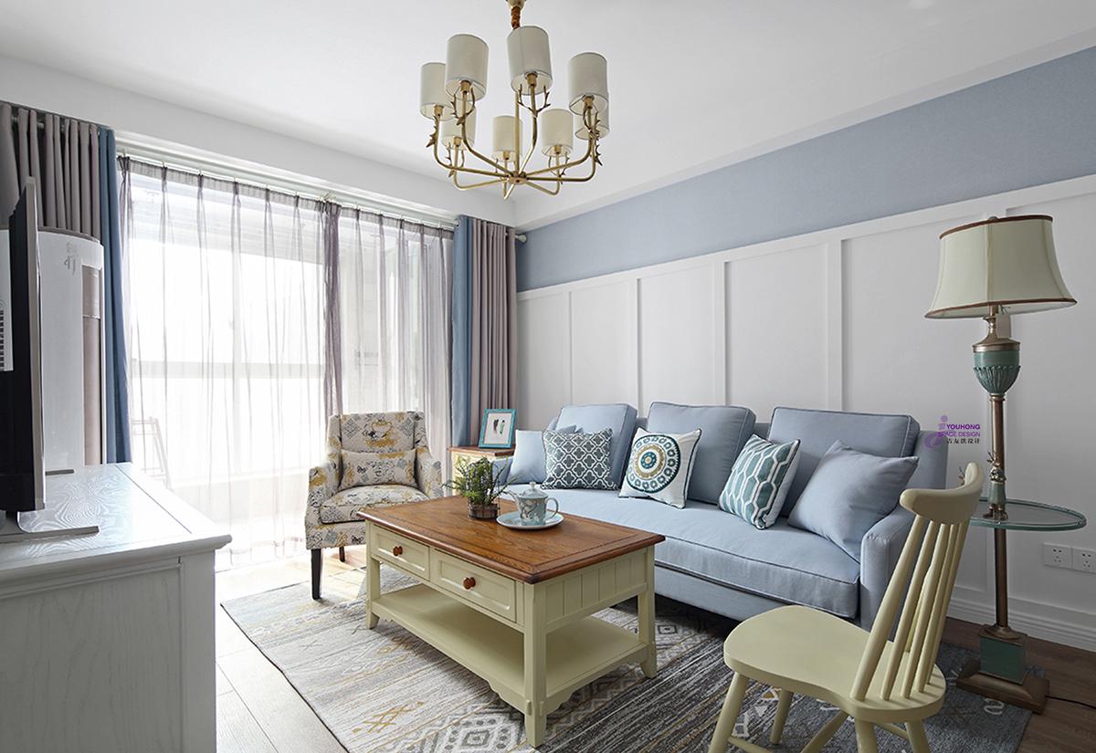 田园 美式 二居 小资 客厅图片来自无锡吉友洪设计工作室在美式 | 笙夏的分享