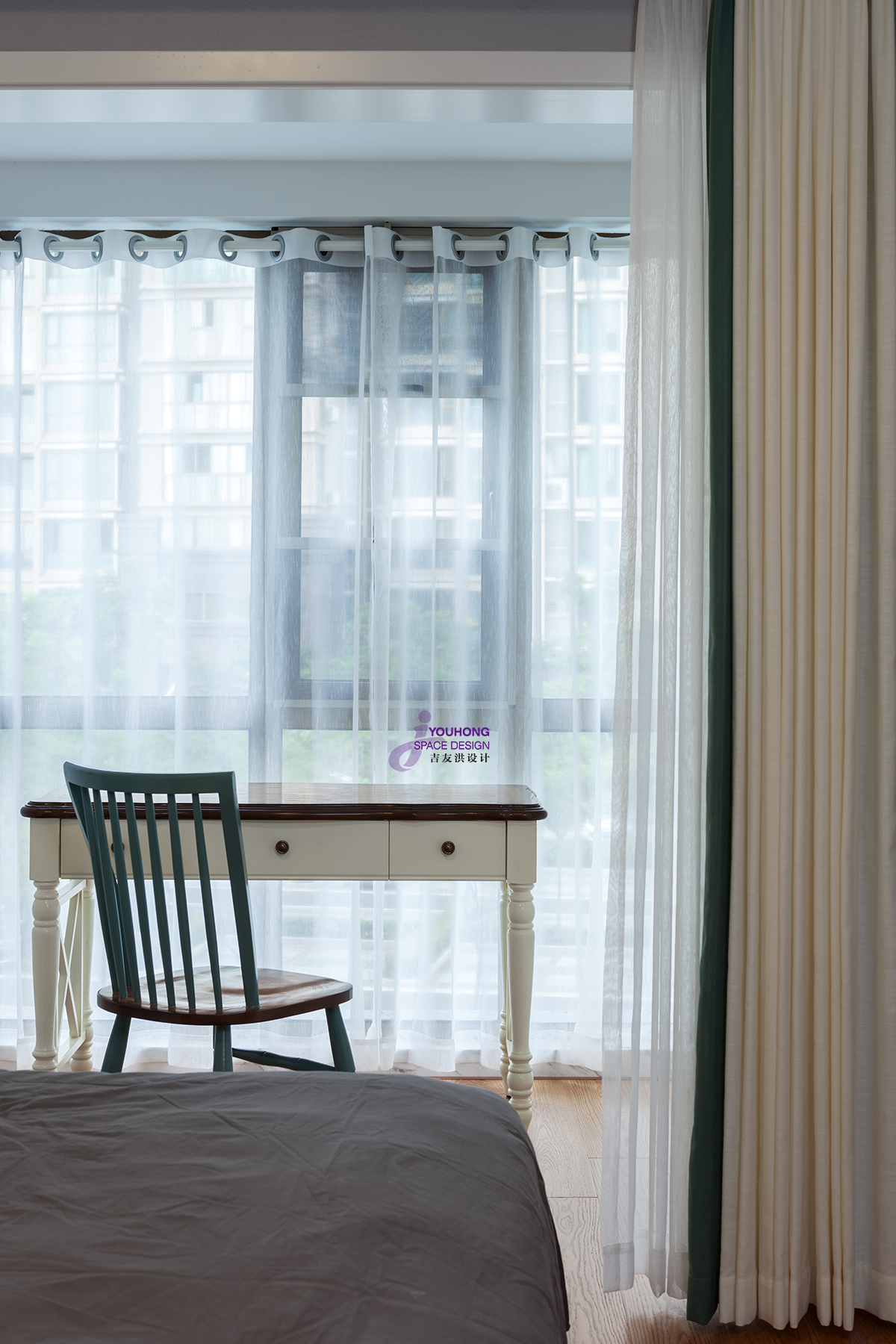 80后 美式 精致 卧室图片来自无锡吉友洪设计工作室在美式 | 素年锦时的分享