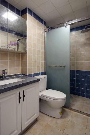 美式 三居 80后 卫生间图片来自无锡吉友洪设计工作室在美式 | 云渡的分享