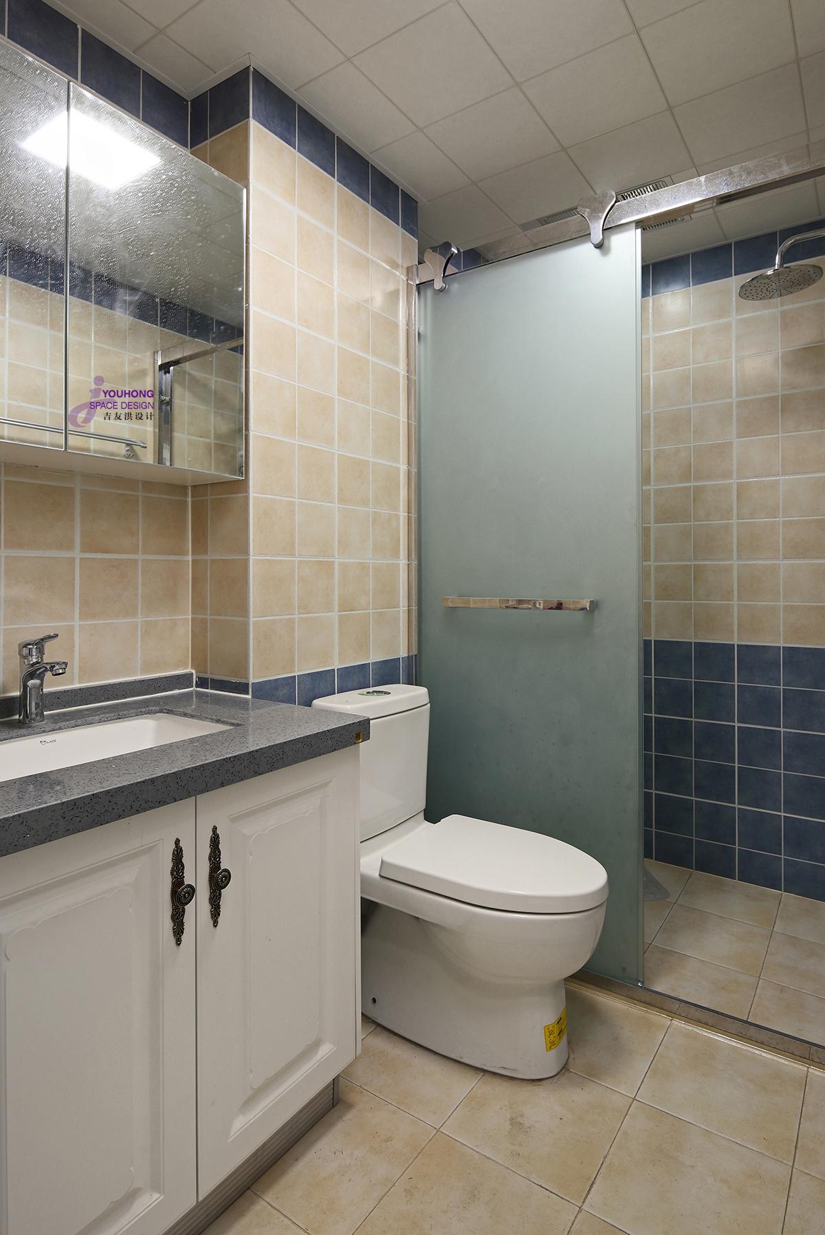 美式 三居 80后 卫生间图片来自无锡吉友洪设计工作室在美式   云渡的分享